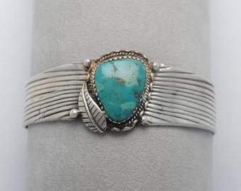Cuff turquoise bracelet