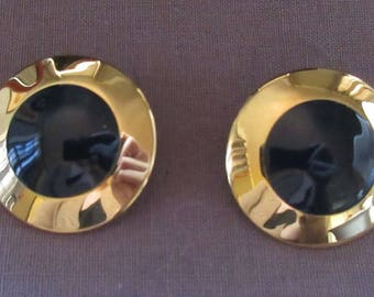 Pair of Monet Disc Earrings