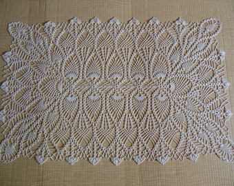 Rectangle crochet doily