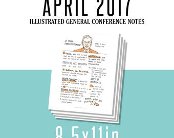 1 per page 8.5x11in General Conference Illustrated Notes - April 2017