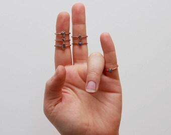 Rough Stacking Ring // Sodalite Stacking Ring // Raw Sodalite // Boho Ring // Raw Crystal // Gemstone Jewelry