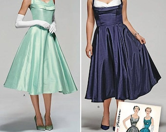 Simplicity 1155 or S0815 Sewing Pattern Special Occasion Dress Vintage 1950's Style Size AA 10-18