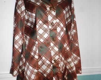 Vintage Joanna Nelson 3 Piece Plaid Pant  Suit  Blouse Shorts, Hot Pants size 10