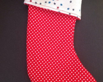 Boot / stocking hanging stars and dots