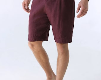 Mens linen shorts. Summer linen shorts. Shorts for men. Mans organic clothes. Leisurewear. Black shorts. Gift for him. Summer linen dOIdZCi1V