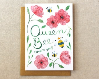 Queen Bee Card | A2 Illustrated Greeting Card