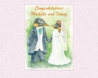 Custom engagement watercolor painting, wedding commissioned art, personalized commission gift, unique watercolour personal art