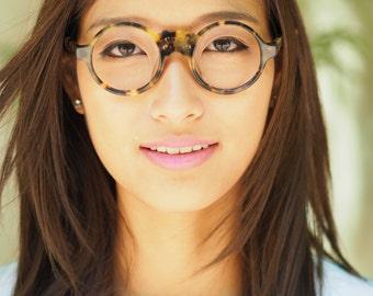 Vintage Eyeglasses from 1980s/ Tortoise Shell Color/ 1980s Eyeglasses/ Far East Style/ Great Color