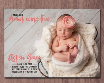 modern birth announcement baby girl announcement baby boy