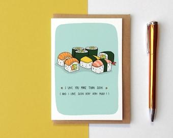 I Love You More Than Sushi Card