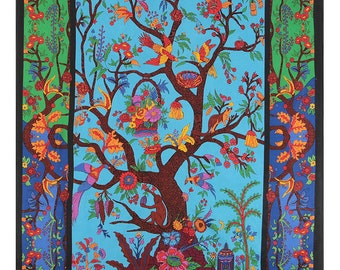 3D Psychedelic Tree of Life tapestry 60 x 90 wall hanging