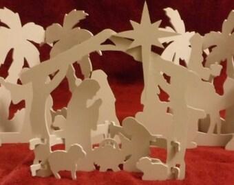 Nativity Scene - Tabletop-white