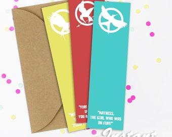 Hunger Games Printable Bookmarks Hunger Games Printable Bookmark Fandom Bookmarks Fandom Bookmark Mockingjay Bookmark Mockingjay Bookmarks