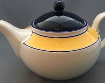 Staffordshire Avanti Yellow Large Teapot.