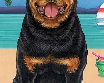 Rottweiler Beach Towel 48002
