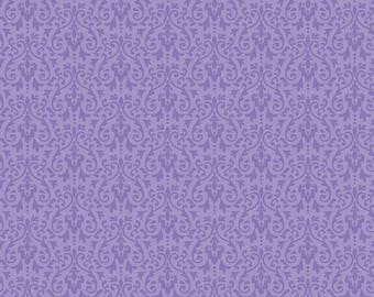 Riley Blake Designs - Ghouls Damask Purple - C5305-PURPLE