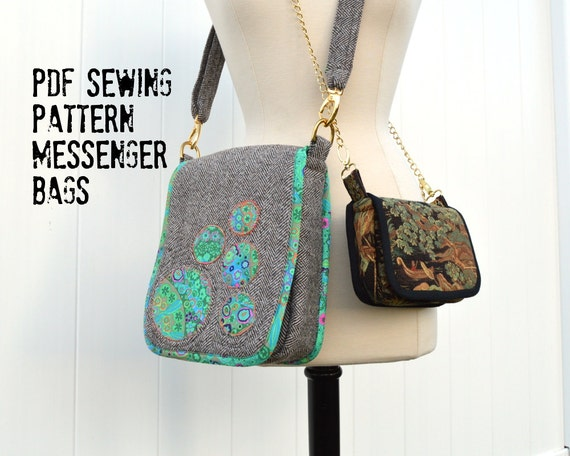 Messenger Bags Sewing Pattern including small saddle bag with