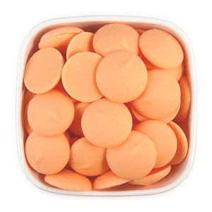 Peach Candy Melts 1 LB - pastel orange melting chocolate wafers for cakepops or chocolate making