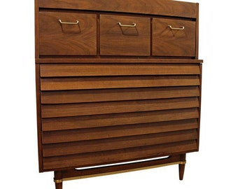 Mid-Century Modern Merton Gershun for American of Martinsville Tall Chest/Dresser
