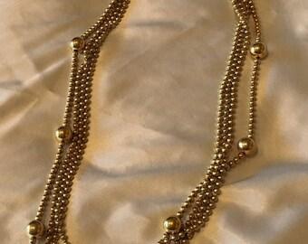 Monet multistrand necklace