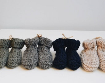 Knitted Baby Cozy Slippers