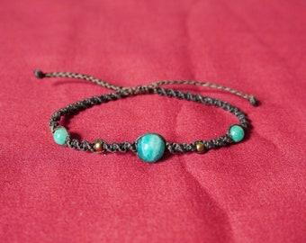 AMAZONITE Bracelet macrame