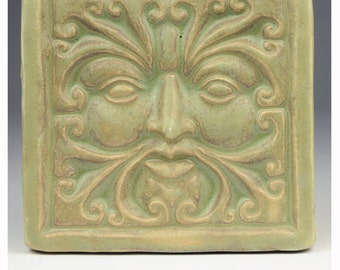 Wind Greenman Tile #2M