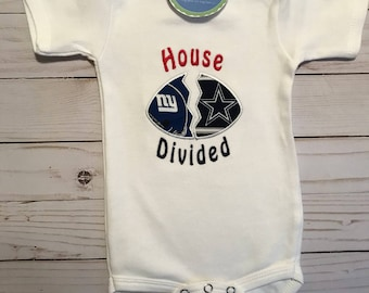 House Divided Football Shirt or Bodysuit • your choice of teams