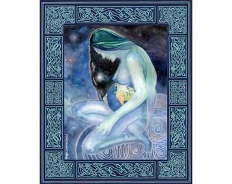 Mother Earth Goddess Celtic Knot work Art