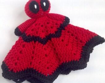 Little Deadpool inspired Blanket Buddy