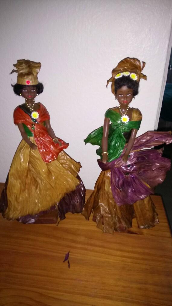 Afrikanische Hexe Bananen Echte Banane Sammlung Blatt
