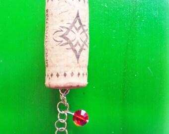 Wine Cork Ornament, Christmas Ornament, Winter Ornament, Wine Bottle Charm