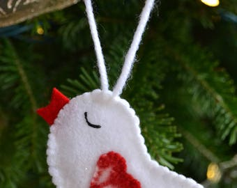 Memorial Bird Ornament (made with the clothing of a deceased loved one)