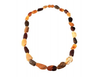 Baltic Raw Natural Amber Necklace Beads Unpolished Amber from Balticbuy.com