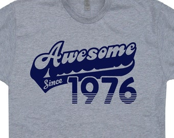 Awesome Since 1976 T Shirt 42nd Birthday T Shirt Made in 1976 Funny Mens Womens Birthday T Shirt Born In 1976 Vintage Soft 80s Retro T Shirt