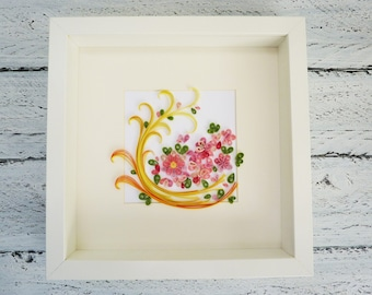 Quilled Art Work/Quilled Wall Art/Flower Explosion