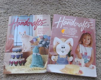 Lot of 2 - Country Handcrafts Magazines - Vintage