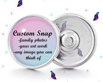 custom photo snap jewelry, photo snap, interchangeable, personalized snap, custom snap, 18 mm snap for snap jewelry