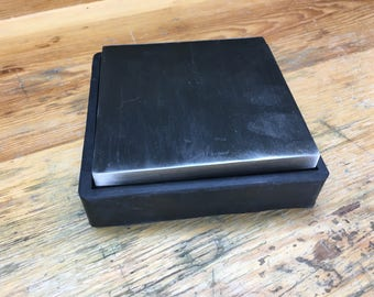 Steel Bench Block with Rubber Base (AN545)