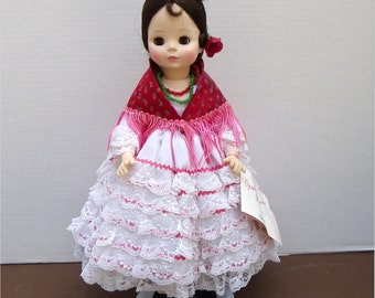 "MADAME ALEXANDER DOLL, Carmen, 14"", Opera Series No. 1410, Box and Swing Tag, 1983-86, Vintage Collectible Doll"