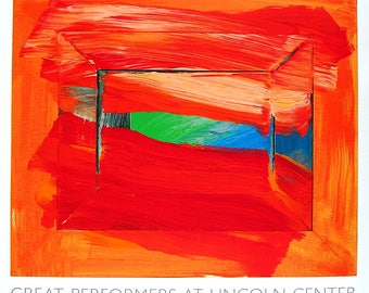 HOWARD HODGKIN - 'The Sky's The Limit' - original limited edition screenprint - rare (Edition of 500. Lincoln Center, NY. Serigraph) ex