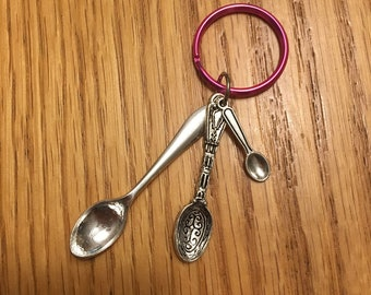 Spoons Keychain - YOUR COLOR *