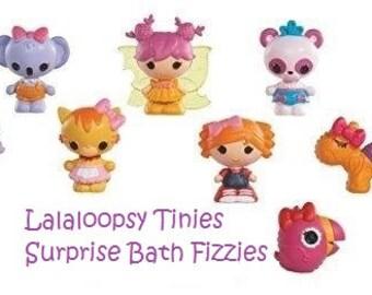 SALE! Lalaloopsy Tinies Surprise Bath Bombs, Surprise Bath Fizzy Fizzies with surprise Lalaloopsy Tiny Toy, Pink Glittery Bath Fiz Fizzy