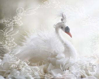 enchanting fairytale swan