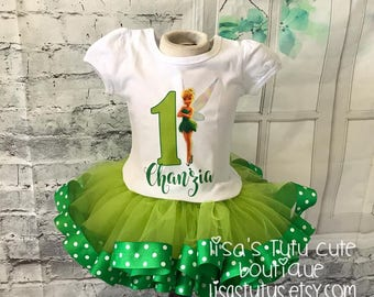 tinkerbell tutu, tinkerbell outfit, tinkerbell birthday tutu, tinkerbell birthday outfit, tinkerbell birthday shirt, green tutu, tinkerbell