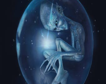 Alien Fine Art Canvas Giclee Print