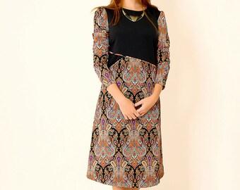 Black A line dress,Midi dress,Holiday dress,Casual winter dress,Loose fit dress,Black loose dress,Mid length dress,Oversized dress,