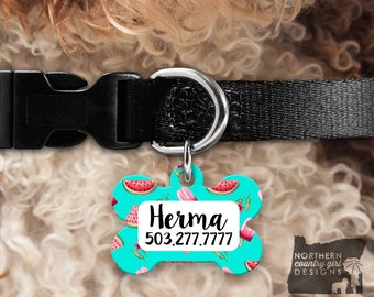 Custom Dog Tag for Dogs Dog ID Tags Personalized Pet Gifts watermelon Pet Tag Pet Tags Pet ID Tag Pet id Tags for Dog Tag ID Dog Tag Dog Tag