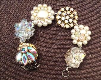 Vintage Sparkling Elegant Earring Bracelet