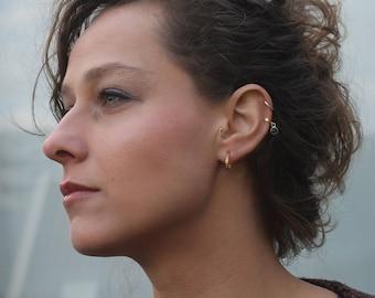 Gold hoop earrings, fashion earrings, minimalist jewelry, hoops, hoop earrings, silver hoops, delicate earrings, tiny earrings, gold hoops